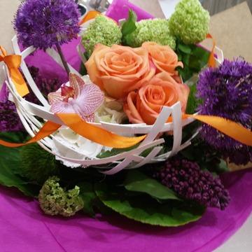 Création florale pour anniversaire